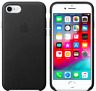 Apple iPhone 8 / 7 / SE2020 Echt Original Leder Hülle Leather Case Schwarz Black