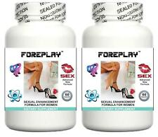 2x FOREPLAY WOMENS LIBIDO ENHANCING PILLS INCREASE SEX DRIVE AND ORGASMS TABLETS