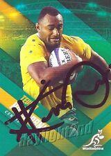 ✺Signed✺ 2017 WALLABIES Rugby Union Card Card TEVITA KURIDRANI