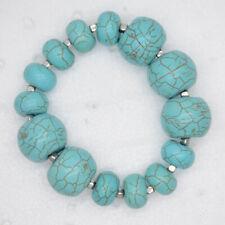 Chico's jewelry elegant unique turquoise stone stretch bangle beaded bracelet
