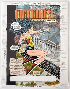 Wonder Woman John Byrne Era Original Hand-Colored Guide Patricia Mulvihill