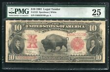 "FR.122 1901 $10 TEN DOLLARS ""BISON"" LEGAL TENDER UNITED STATES NOTE PMG VF-25(B)"