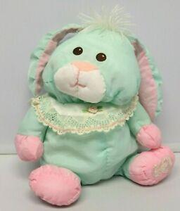 "Fisher Price PUFFALUMPS 10"" GREEN Bunny Rabbit Vintage 1988 Stuffed Animal Toy"