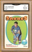1971-72 O-Pee-Chee #60 Gilbert Perreault | Graded EX+ | Buffalo Sabres