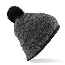 Cuffia Beechfield GRIGIO/NERO  POM PON Hat Cap Cappello Cappellino Berretto 2014