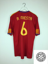 Spain INIESTA #6 09/10 Home Football Shirt (XL) Soccer Jersey Adidas World Cup