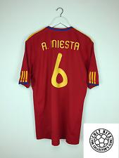 L'Espagne Iniesta #6 09/10 Home Football Shirt (XL) Soccer Jersey Adidas Coupe du Monde