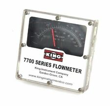 KING MODEL 7700 SERIES FLOWMETER, 7711230734, 1500 PSI MAX PRESS