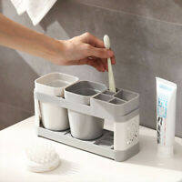 Electric Ace Toothbrush Holder Stand Set Shelf Bathroom Toothpaste Storage Rack
