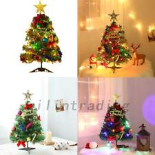 New Artificial Small Mini Christmas Tree With LED Lights Ornaments Xmas AU