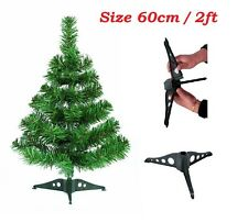 60cm Table Top Green Artificial Christmas Tree with Stand Window Trees Indoor