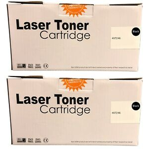 Compatible 407246 Black Twin Pack High Capacity Toner Cartridges for Ricoh SP310