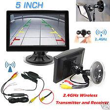 """5"""" LCD Car Monitor+12V Wireless Rear View Backup Parking Camera Night Vision Kit"""