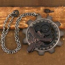 Steampunk Time Wheel Necklace