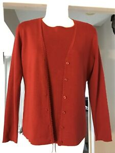 FREE SHIPPING! Ann Taylor TwinSet Brick Red Tank & Maching Cardigan MP