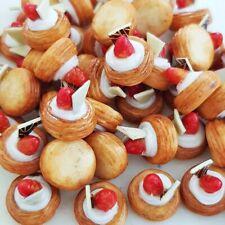 10x Mini Strawberry Fruit Tart Dollhouse Miniatures Food Cake Bakery Sweet Loose