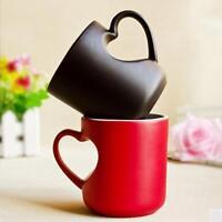 Coffee Milk Mug Ceramics Heart Shape Handle Heat Sensitive Color Changing Cup