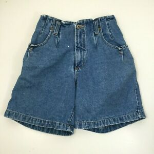 Vintage 90s Union Bay Light Wash Denim Shorts High Waist Size 5