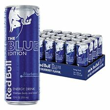 NEW Red Bull Blue Edition Energy Drink 12 Fluid Ounce Cans 24 Pack