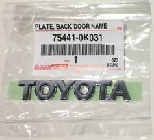 Genuine OEM TOYOTA Trunk Emblem Plate Back Door Name Badge Rear Chrome Tacoma