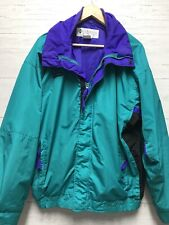 Vintage Columbia Mens Ski Jacket Zip Shell Purple Teal Size Large