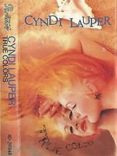 CYNDI LAUPER TRUE COLORS CASSETTE ALBUM 10 TRACK ELECTRONIC SYNTHPOP NEW WAVE