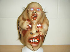 2 heads face ZOMBIE MONSTER ADULT HALLOWEEN LATEX MASK FANCY DRESS UP COSTUME