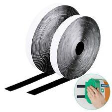 Selbstklebender Klettverschluss Schwarz 16mm 1m/5m Feine Nylonmischung Robust