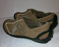 Clarks Privo Women's Brown Beige Flat Loafers Comfort shoes Size 7.5