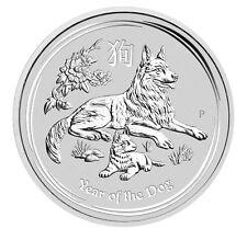 2018 $1 1oz Silver Australian Year of the Dog .9999 BU