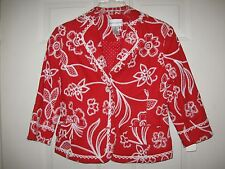 Ruby Red Fitted Crop Jacket Dots n' Lace Group Draper's & Damon's Size 6P NWT