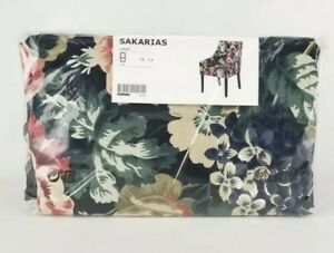 Ikea SAKARIAS Chair Cover Armchair Slipcover LINGBO Multicolor, Dark Floral NEW