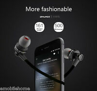 Awei A990BL Wireless Bluetooth Noise Isolation Earbud Earphone with Hands free