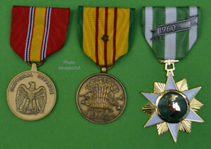 Vietnam Campaign, Service and National Defense Medals 1 campaign/battle stars T1