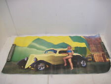 SEXY GIRL PIN UP POSTER CLASSIC HOT ROD CAR  SWIMSUIT BLONDE WOMEN