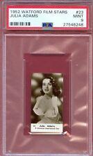 1952 Watford Film Stars Card #23 JULIA ADAMS Actress WATERLOO Iowa PSA 9 MINT