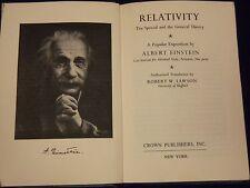 1961 RELATIVITY A POPULAR EXPOSITION BY ALBERT EINSTEIN BOOK - KD 2923E