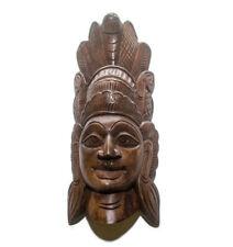 "Elegant Sri Lankan Traditional Tiki Wood Carving 12"" (Super Vintage Collectible)"