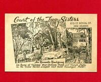 Vintage Post Card - New Orleans LA - Court of the Two Sisters -