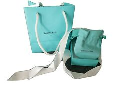 Authentic Tiffany & Co. Jewelry Gift Bag Gift Box Pouch Ribbon