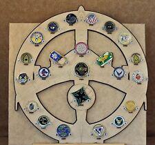 * Custom * E-3 AWACS 23-Challenge Coin display / holder - wall mount