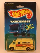 Hot Wheels Workhorses New Model American Ambulance 1792 from 1988 Die-Cast 1/64