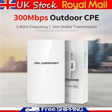 300Mbps COMFAST Wifi Wireless Outdoor CPE Bridge 5.8Ghz Antenna 1km Long Range