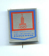 ULTRA RARE Olympic Games Moscow plastic pin POLAND Universal Official Supplier