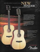 Fender Grand Dreadnought GD-47S & GD-47S12 12-String acoustic guitar 8 x 11 ad