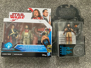Star Wars Chirrut Imwe & Baze Malbus Force Link & Star Wars Leia Organa
