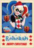 DC Super Hero Girls Harley Quinn Harlequin Christmas Xmas Card A5 Personalised