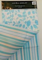 """Laura Ashley Table Runner Chesil 13"""" x 72"""" Multi-Color Floral Reversible Striped"""