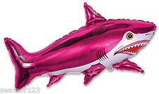 "Fuchsia Shark Helium Foil Balloon Supershape 30"" x 42"" 75cm x 105cm"