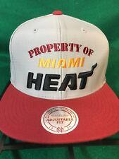 low priced 3380c bfc34 Miami Heat Gray red NBA Mitchell   Ness Adjustable Snapback ZIPBACK Hat